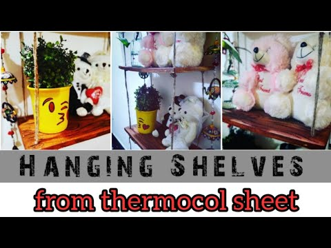 DIY HANGING SHELVES WITHOUT USING WOOD | SD Creation