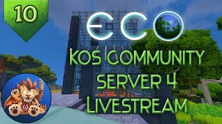 Eco - KoS Community Server 4 - Ep 10: Livestream with ShaydenMac from Strange Loop Games