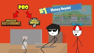 When a PUBG Gamer gets Victory Royale in Fortnite