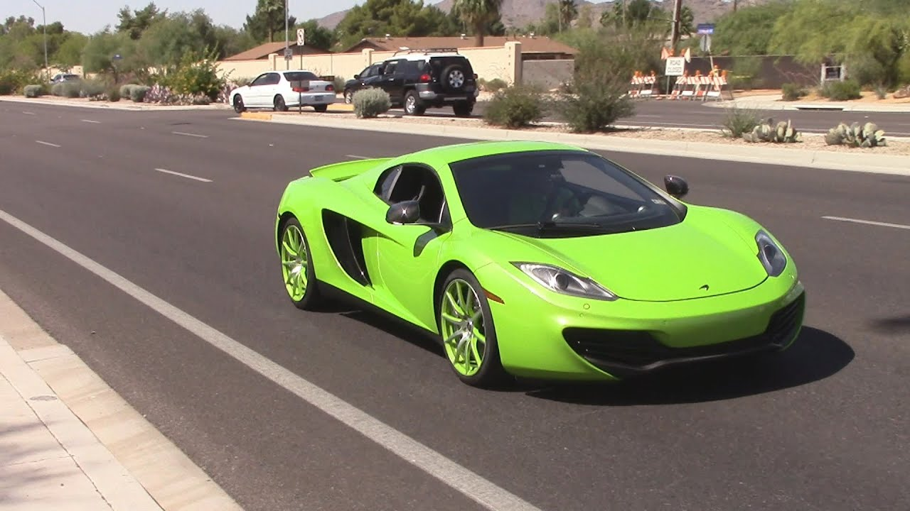 Supercars And Sports Cars Leaving Car Show McLaren MPC - Sports cars mclaren