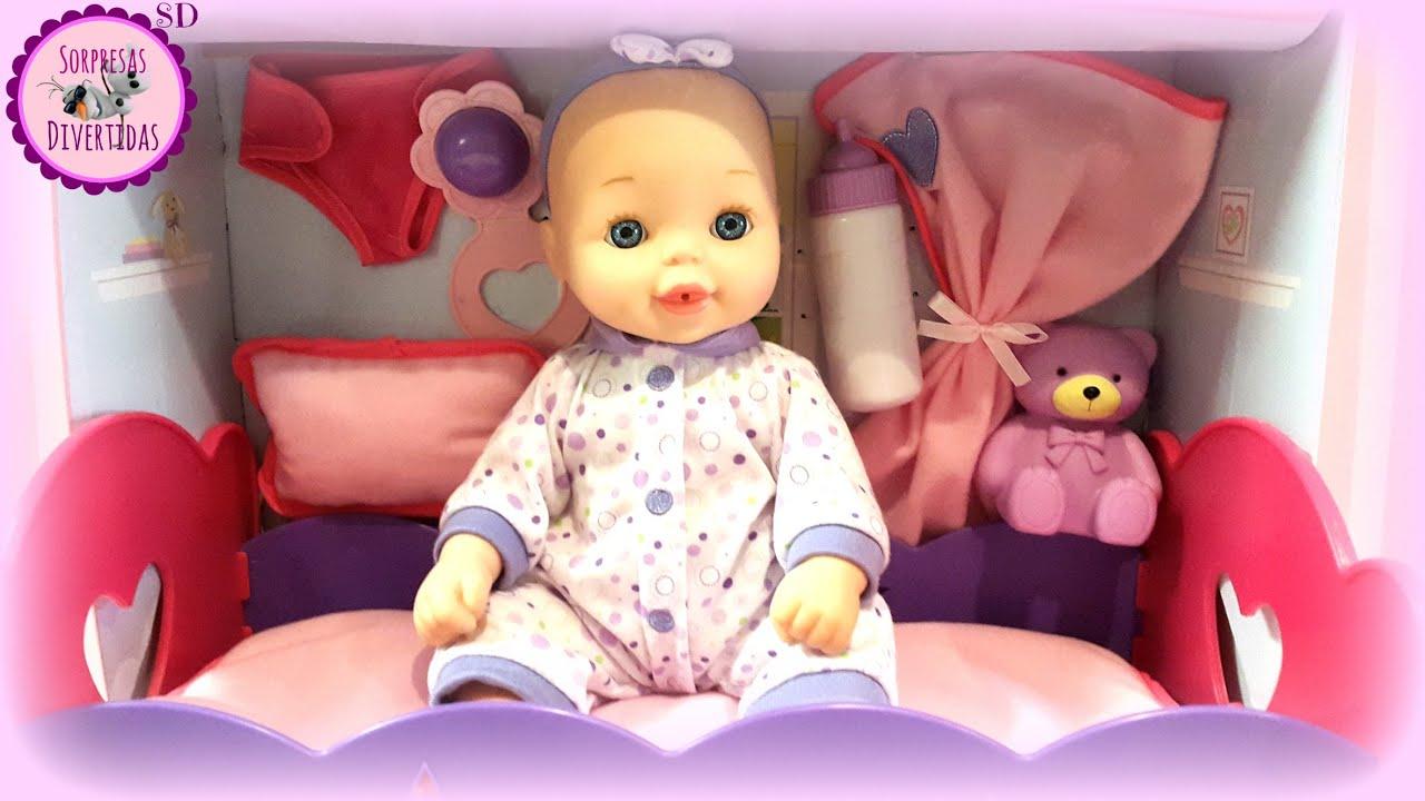538127c1a Bebé con Cuna Balancín y Accesorios 💖 Muñecas You & Me - YouTube