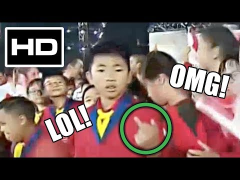 BOY POINTS MIDDLE FINGER ON LIVE TV! NDP 2017 SINGAPORE (SCREENCAP)