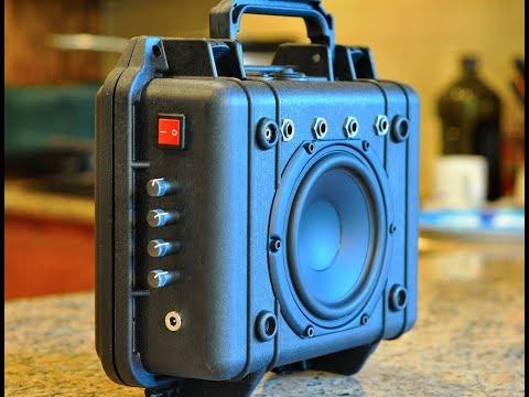 diy pelican 1200 hifiboombox ver2 w/4 channel mixer & bbe sound!