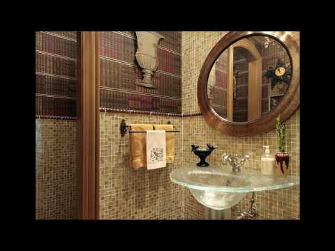Half wall bathroom tile designs