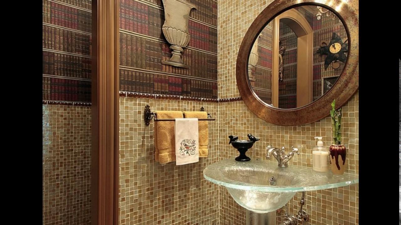 Half wall bathroom tile designs - YouTube