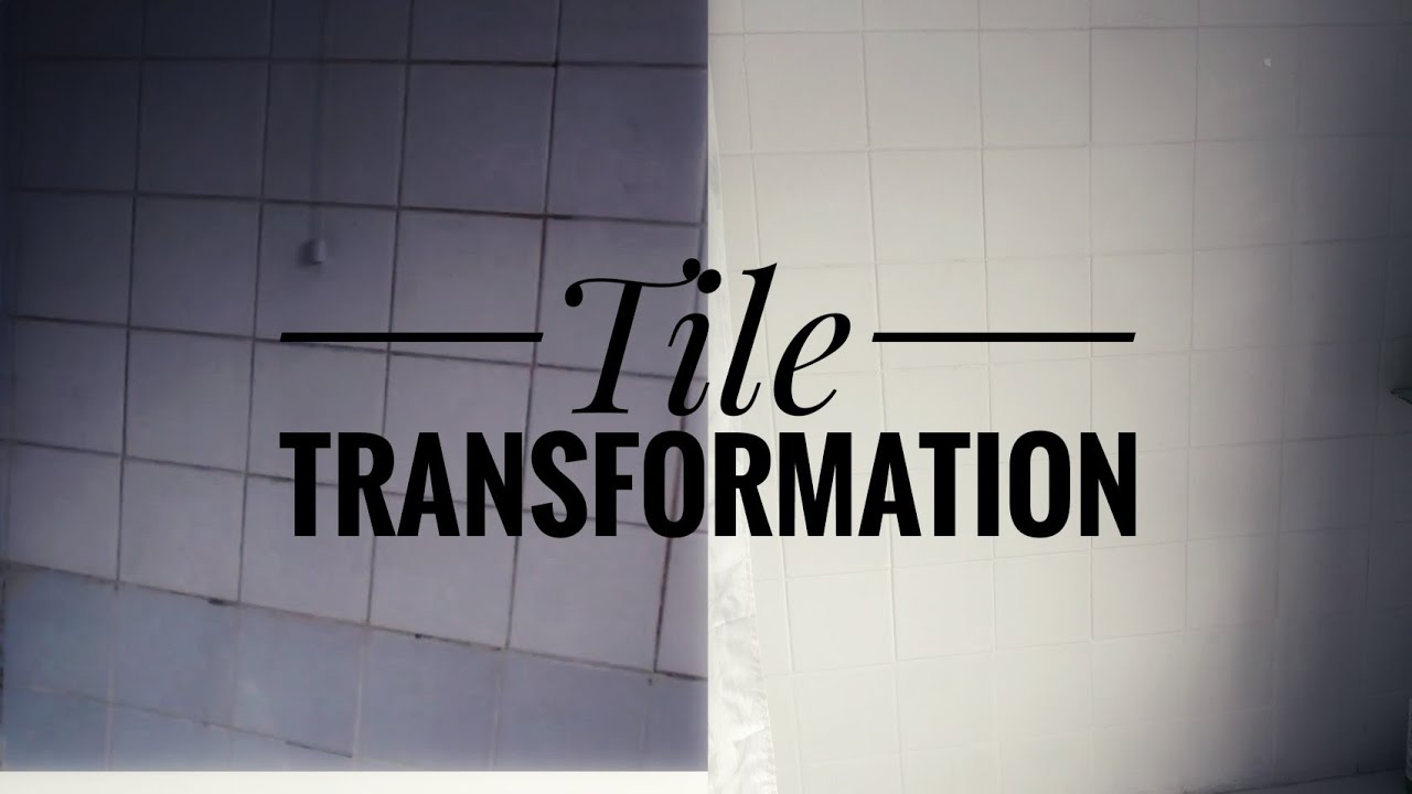 How I Painted Dirty Bathroom Tiles Before After
