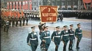 Парад Победы на Красной площади 24 июня 1945 г в цвете