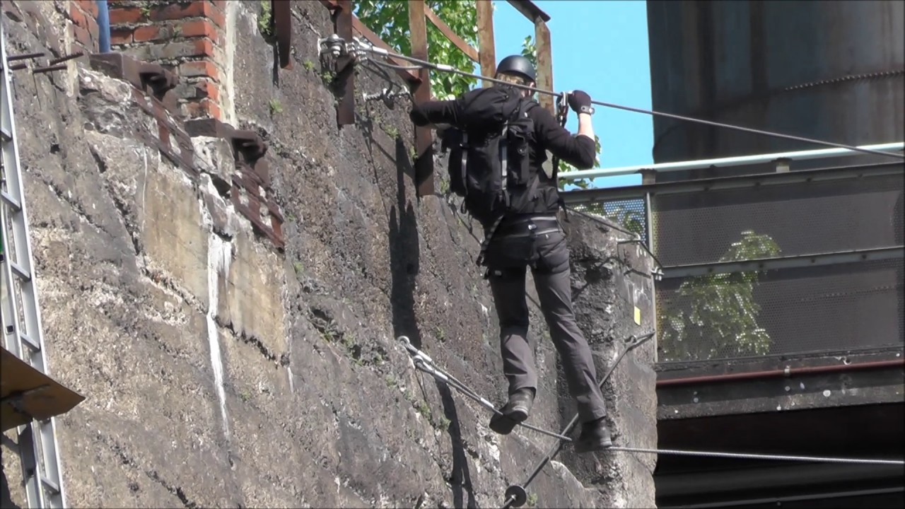 Klettersteig Duisburg : Klettern im landschaftspark nord in duisburg youtube