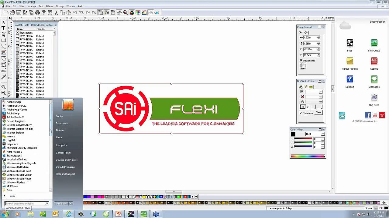 intro to sai flexi cloud versaworks workflow youtube rh youtube com Flexisign Pro 8 1 Flexisign Pro Tutorial