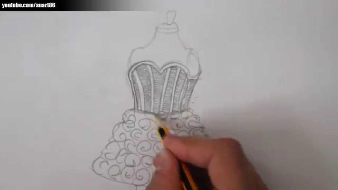 Imagenes de vestidos modernos para colorear