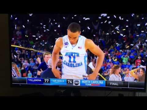 Villanova vs. North Carolina: Final 15 Seconds - North Carolina Reaction