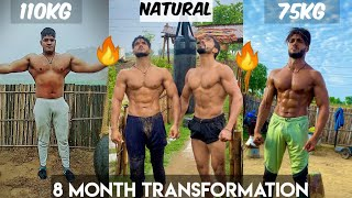 8 Month Natural Transformation 💪 Weight Loss Diet Plan   110 Kg To 75 Kg   Vipin Yadav  