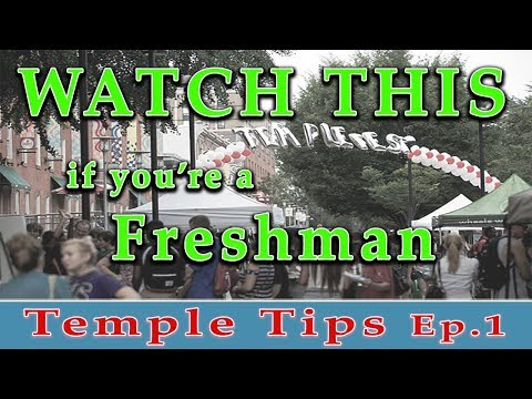 WATCH THIS if you're coming to TEMPLE UNIVERSITY