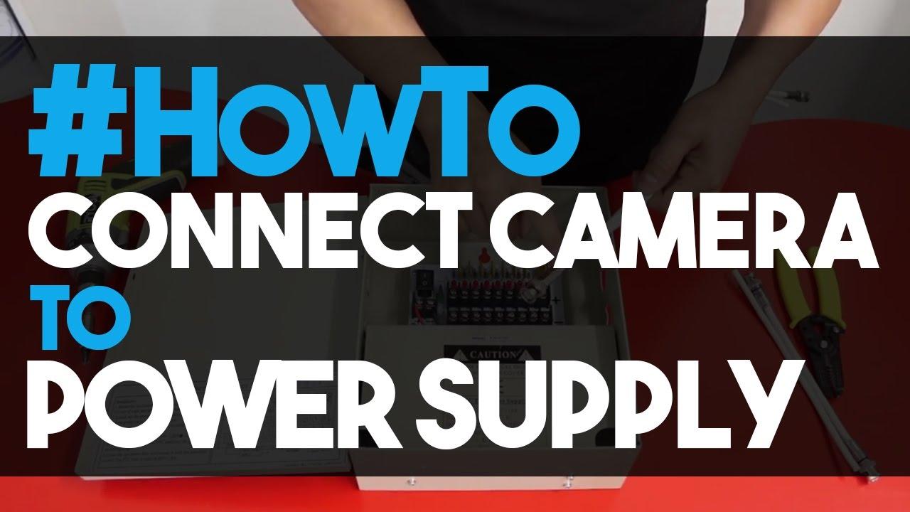 medium resolution of how to connect cctv cameras to a power supply unit 12v dc