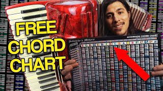 How To Play Accordion with FREE Chord Chart - Beginners Accordion Lesson