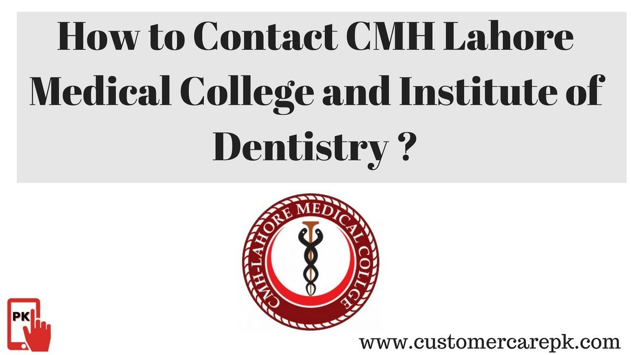 CMH Lahore Medical College and Institute of Dentistry