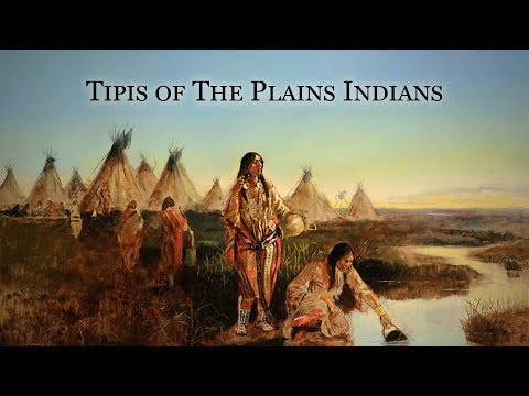 Tipis Of The Plains Indians