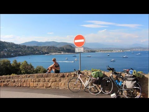 Nice to Barcelona by bicycle all French Riviera coast