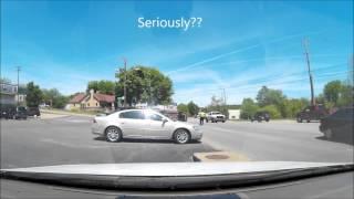 Flipped Car in South Fayetteville AR 4 28 2016