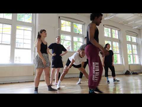 London Contemporary Dance School student talking about choreography