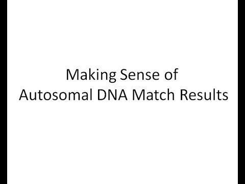 Making sense of autosomal DNA results