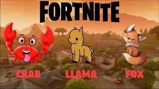 Llama Fox & Crab Locations | Season 3 Weekly Challenge Guide | Fortnite Battle Royal