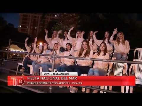 Telediario desde la Fiesta Nacional del MAr primer dia, artistas locales