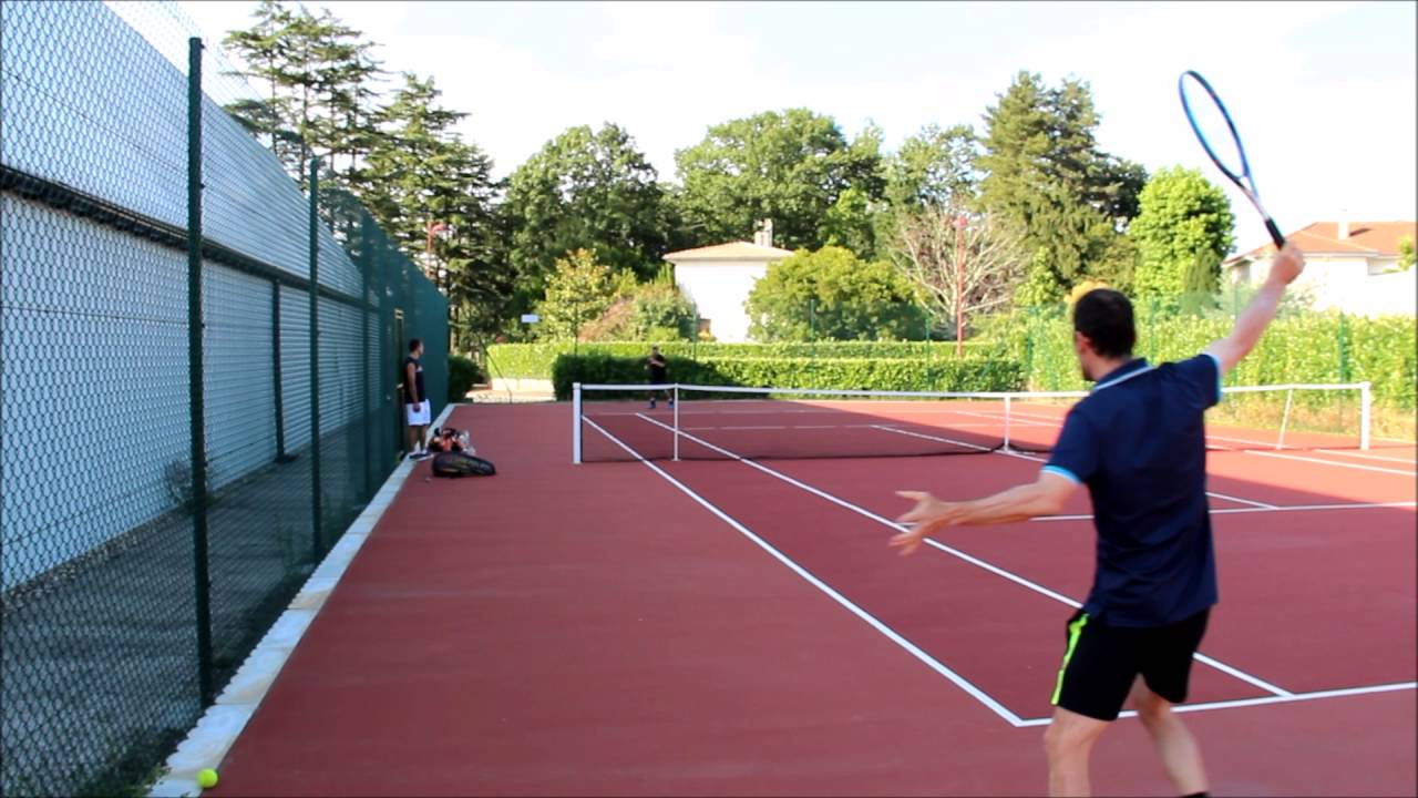 Petit exercice de tennis pour la précision et le petit jeu ...