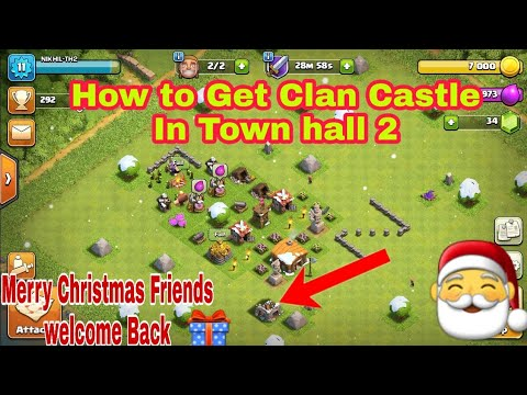 How To Get CC In Th - 2 Clash Of Clan. Open Clan Castle In Town Hall 2 // Clash Of Clan #INDIA