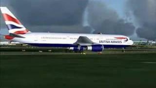 FS2004- Austrian A320 Runway 27L Departure @ London Heathrow