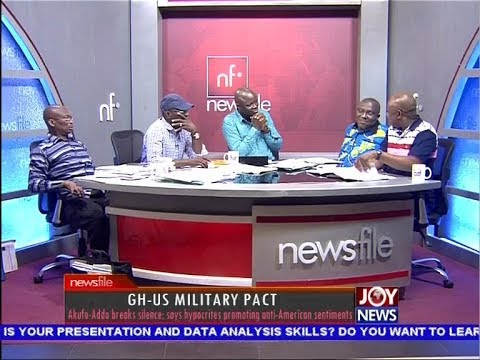 GH-US Military Pact - Newsfile on JoyNews (7-4-18)