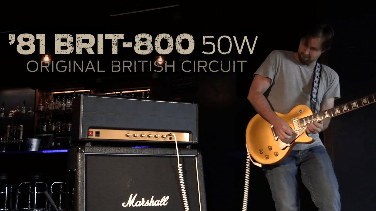 hear the new stewmac 81 brit 800 amp kit a hand wired jcm 800 style head in a kit  [ 1280 x 720 Pixel ]