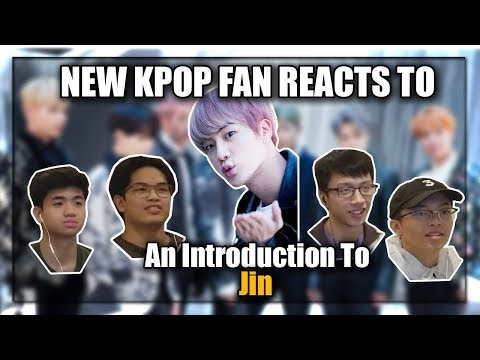 NEW KPOP FAN REACTS TO AN INTRODUCTION TO BTS JIN (OurKrew Reacts)