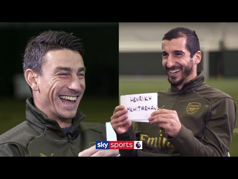Laurent Koscielny And Henrikh Mkhitaryan Play 'Guess The Arsenal Teammate' Game!
