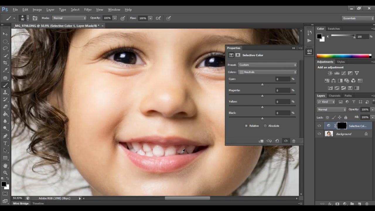 Aprenda Como Clarear Dentes No Photoshop A Melhor Forma Youtube