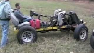 Custom go cart 350 rocket Open headers