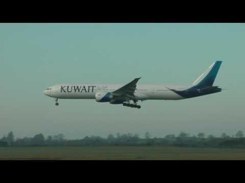Kuwait Airways Boeing 773 - Landing Shannon Airport