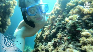 Found small caves and fish while Freediving In Sant Antioco