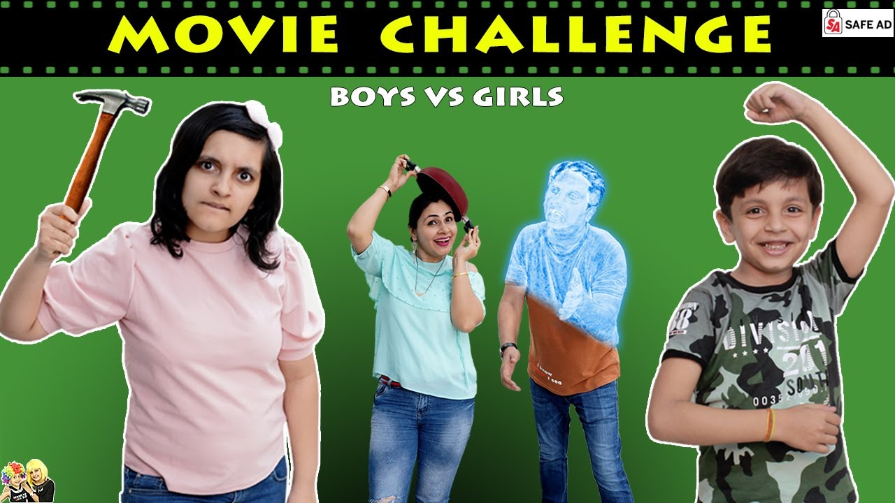 GUESS THE MOVIE CHALLENGE Disney+Hotstar #Funny Family Challenge |Boys vs Girls| Aayu and Pihu Show