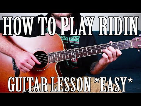 "How to Play ""Ridin"" by Yung Bans on Guitar *FOR BEGINNERS*"