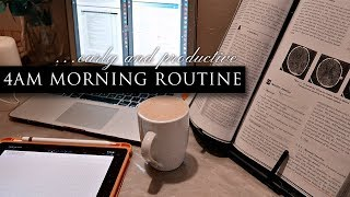 4am MORNING ROUTINE   Productive Morning Routine 2020   TheStylishMed