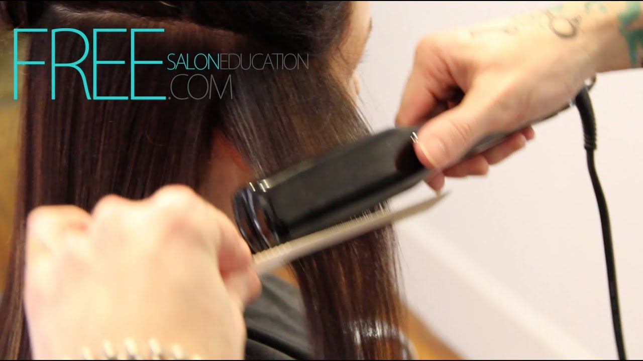 flat iron hair - How to flat iron curly hair - Smoothing Hair the professional way