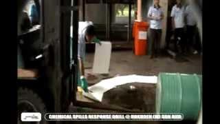 chemical spills response drill hokuden m sdn bhd