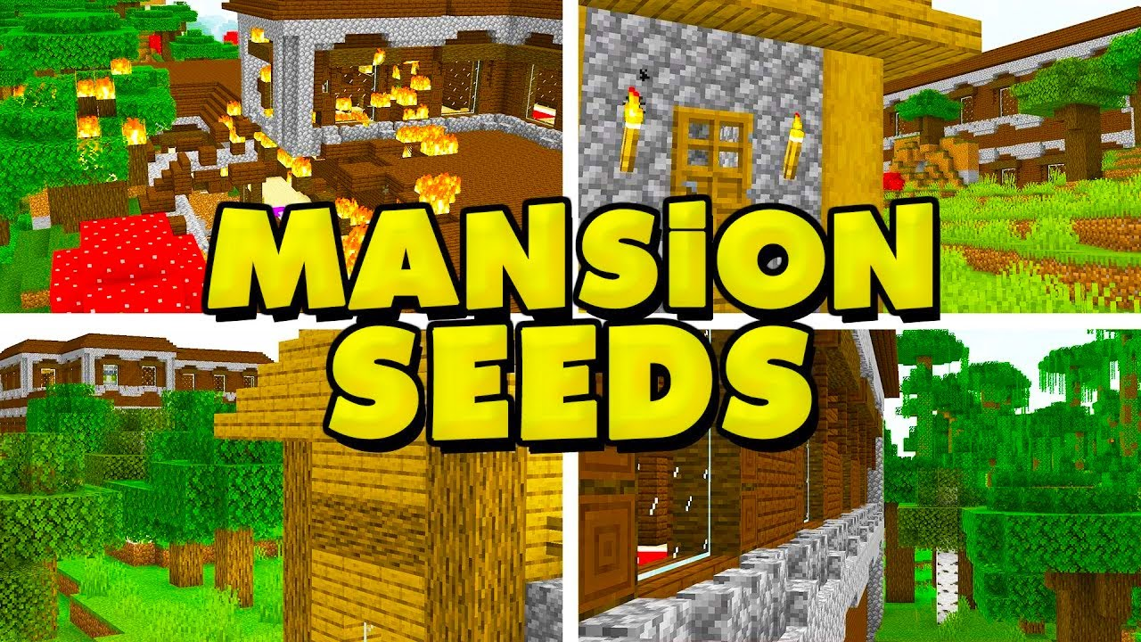9 NEW WOODLAND MANSION Seeds for Minecraft 9.96.9! (PC Java Edition 9.96  Seeds)