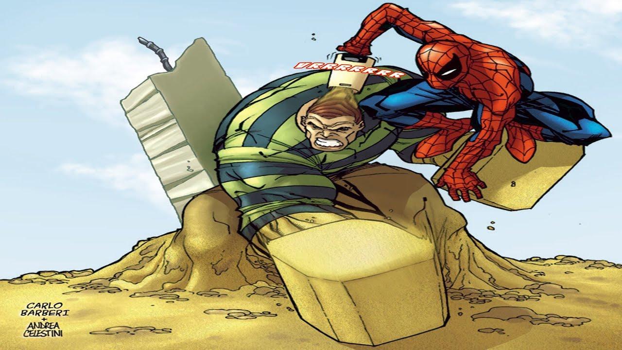 Spiderman vs. Sandman Final Battle in Spiderman Shattered ...