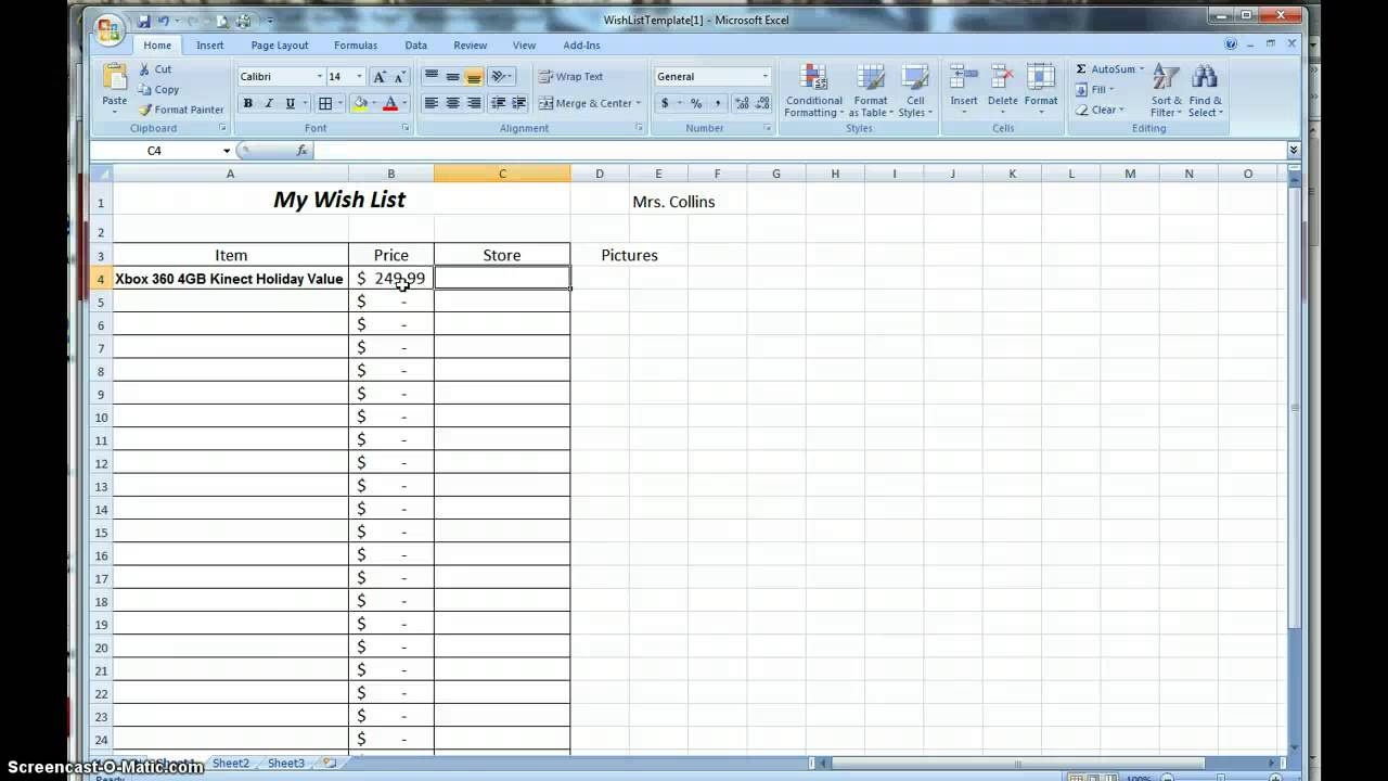 how to make a wish list spreadsheet youtube. Black Bedroom Furniture Sets. Home Design Ideas