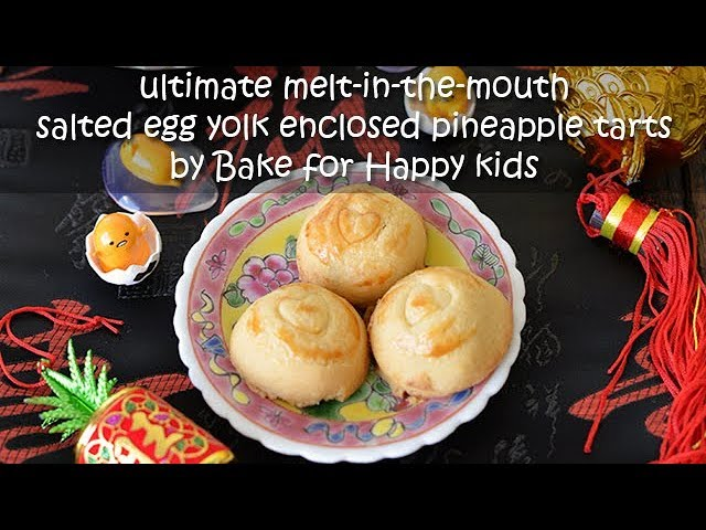 Ultimate Melt-in-the-Mouth Salted Egg Yolk Enclosed Pineapple Tarts