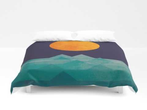 The ocean, the sea, the wave - night scene | Duvet Cover Queen