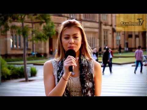 GlamCornerTV Presents - University of Sydney On Campus Interview - Part 1
