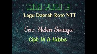 Lagu Daerah Rote Ntt Mai Fali E